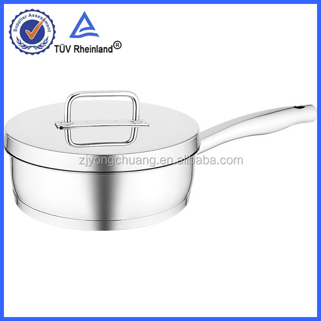 stainless steel ceramic coating colored frying pans with induction bottom cookware