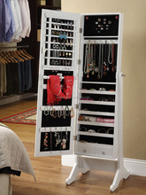 standing mirrored jewelry cabinet Armoire