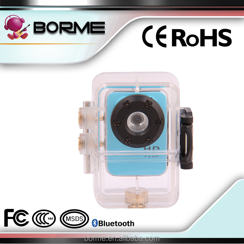 1.5inch hd mini sport dv 720p manual Action Camera/30M Waterproof sport Camera pink color/CE certification DV