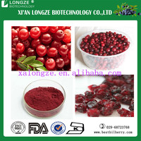 Pure and Natural Freeze-dried Food Grade Lingonberry Fruit Extract Powder with Anti-oxidant Anthocyanidis 25%