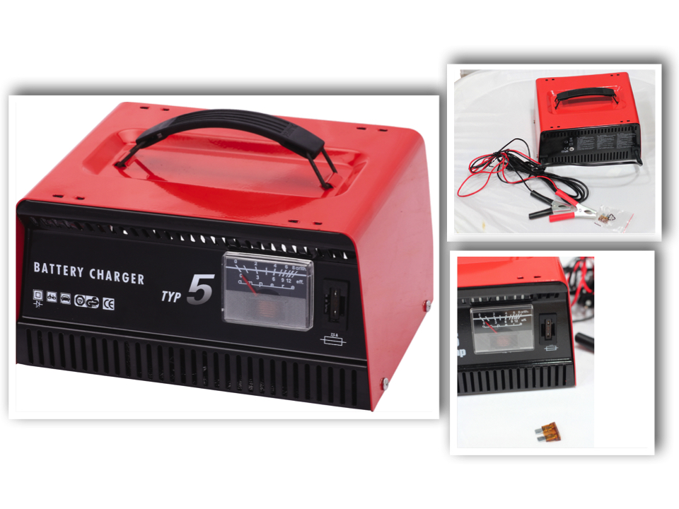 Factory Price TUV/GS Approved Portable 12V/24V Lead Acid Car Battery Charger