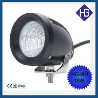 New arrival off-road motorcycle lights 15W headlight led strip lights commercial electric led work light