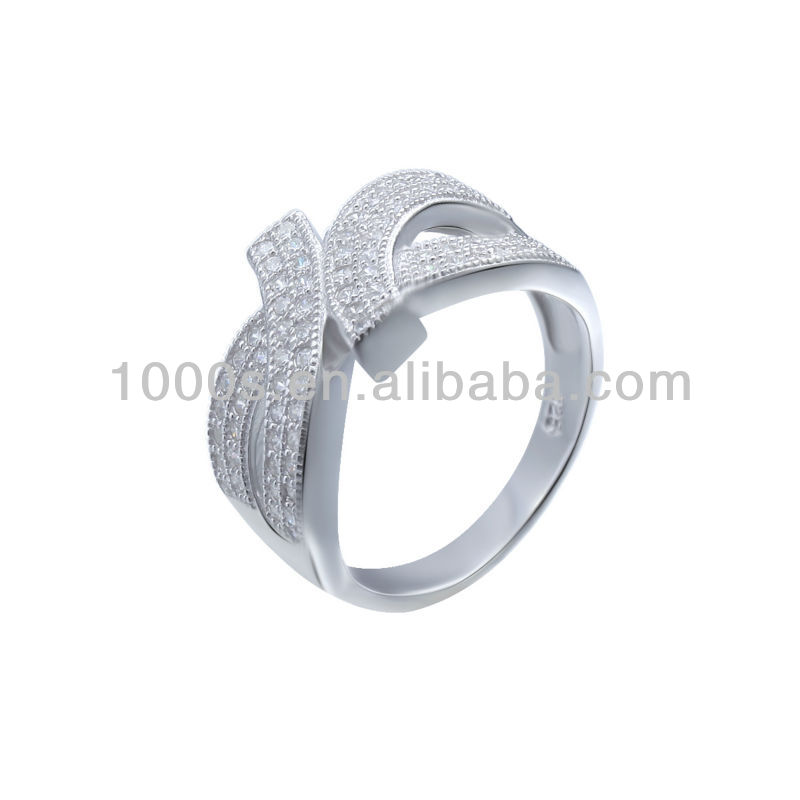 Micro setting ring 925 sterling silver jewelry