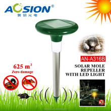 Solar mole chaser , ultrasonic groundhog repellent with LED light
