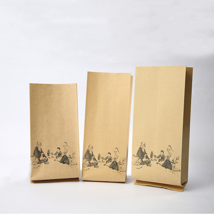 2017 custom printed side gusset Kraft paper coffee bag
