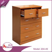 wholesale living room cabinets 4 layers chest drawer cheap mdf wooden chest of drawers
