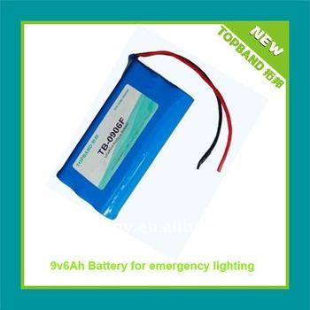 High Quality 9V Rechargeable emergency lighting battery