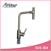 360 Degree Rotate Spout Kitchen 304 Stainless Steel Faucet