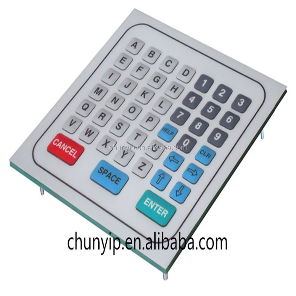 flexible membrane keyboard with pcb base keypad