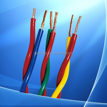 High quality RVV 5 cores 1mm/1.5mm/2.5mm/4mm/6mm copper electrical wire, electrical cable
