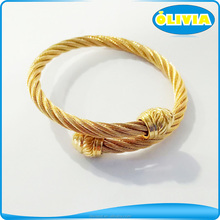 Olivia Stainless Steel Cross Bracelet Bangle Mens Bangles Design Gold Image
