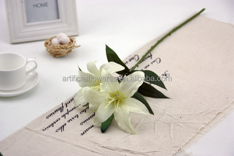 cheap wholesale lifelike artificial lily silk flowers tiffany blue