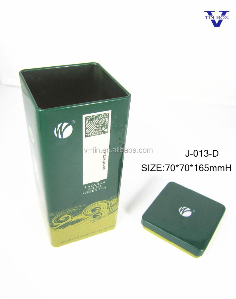 2017 wholesale rectangular tin box for tea packing