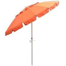 Largest best canopy tilting orange outdoor beach umbrella with shade
