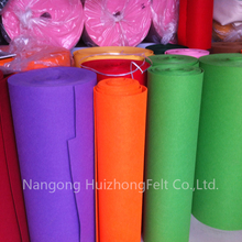 factory price colored needled polyester felt