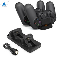 For Sony PS4 Charger Station Stand with Charge Cable for Playstation 4 PS4 Dual Charge Dock for PS4 Controller Charging