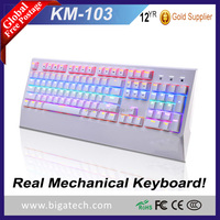 OEM Customized USB 7 colors RGB LED Illuminated Backlight Ergonomic Wrist rest design Kailh Switches Gaming mechanical Keyboard
