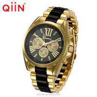 QE0102 Floral Flower Geneva Ladies Rubberized Coated Alloy Metal Geneva Vogue Watch Women