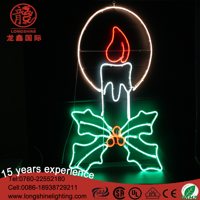 Christmas decoration 2017 220V 80CM jingle bell angel stocking LED light candle lights