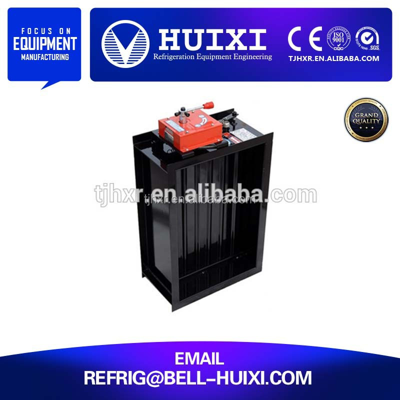HVAC system electric motorized normal close smoke and fire damper