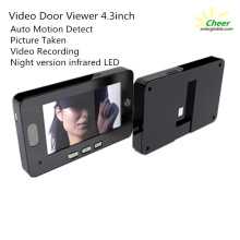 Night version and Auto motion detect 4.3inch digital door peephole viewer