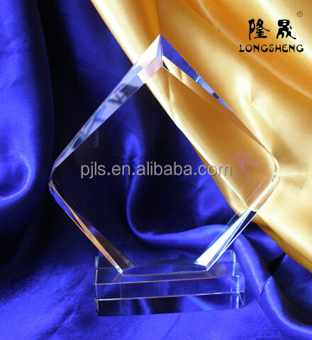 rhombus shape crystal award