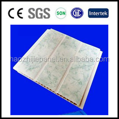 Double groove building materials interlocking pvc ceiling panels vinyl tile