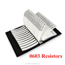 8500 PCS [0603] Resistor <strong>1</strong>/10W SMD SMT 170 Value <strong>x</strong> 50PCS Combo Kit Assorted Folder Sample Book Resistors [Accuracy <strong>1</strong>% Tolerance]