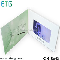 Invitation lcd video greeting card / promotional brochure