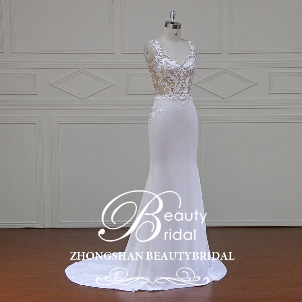 XFM043 sexy strapless beaded mermaid bridal gown