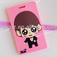Customized Pvc Rubber Promotion Luggage Tags
