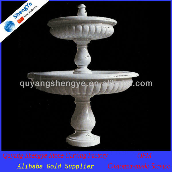 Pure White Classical Marble Water Fountains for Garden Decoration