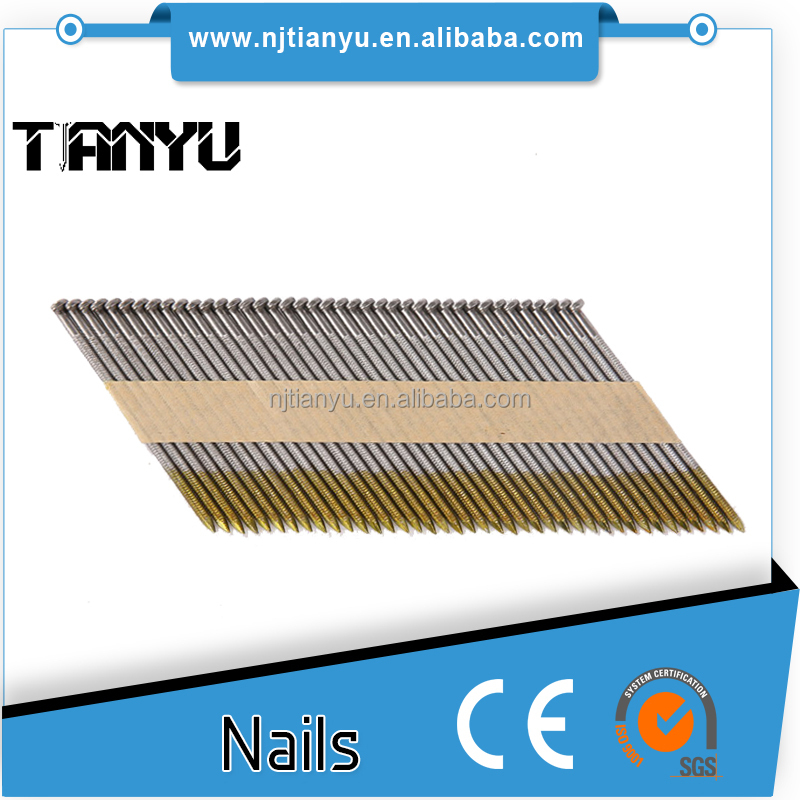 2017 paper strip nai2-3/8 in. x 0.113 in. Ring Brite 30-34 Degree Paper Tape Clipped Head Framing Nail for framing gun