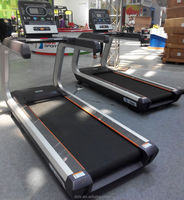 Commercial Treadmill with Heart Rate Sensor/Touch Screen and TV/factory fitness gym equipment machine