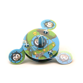 2017 New Hot Selling Educational 3D Model Puzzle Jigsaw DIY Spinner Toy Kids promotional gift