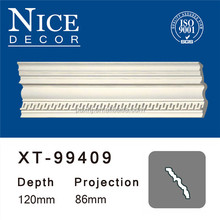 China supplier home decorative pu cornice/ cove crown moulding