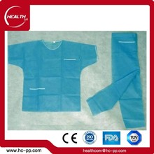 Dressing and Care For Materails Nonwoven Fabric Scrub Suit