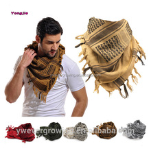 Winter Outdoor High Quality Military Windproof Men Women 100% Cotton Muslim Hijab Shemagh Tactical Keffiyeh Arab Scarf Wholesale