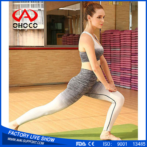 China supplier wholesale women wear customized active yoga pant fitted sports pant