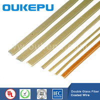 double heat resist polyester and double layer fiberglass covered flat aluminium wire