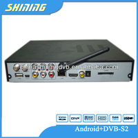 android satellite receiver, android dvb-s2 receiver, dvb-s2 android 4.0 smart tv box