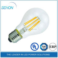 cUL/UL approved 2700k A60 Led filament bulb 4W/6W/8W global lamp e27 filament led candle made in p.r.c.