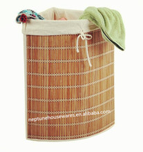 Bamboo Laundry Hamper corner laundry basket