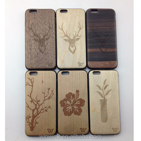 2016 Original Laser engraved custom wood phone case for iphone 6,For iphone 6 wood case phone cover made in china for iphone 6