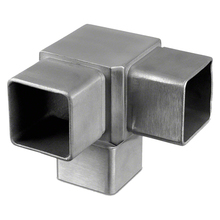 Custom 2 way 3 way 90 degree elbow steel tube connectors square pipe connectors for handrail fitting
