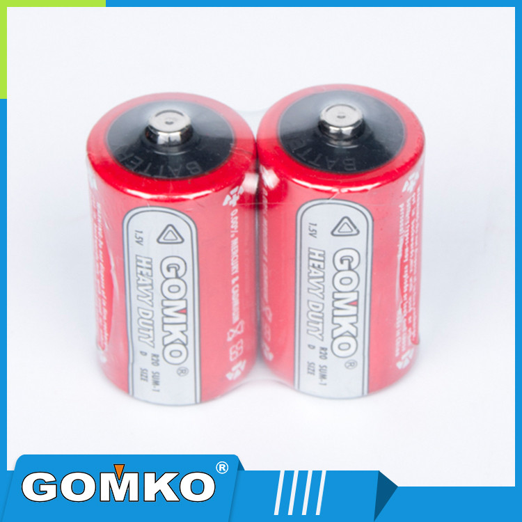 Industry super 1.5v D size dry zinc carbon batteries