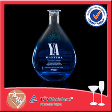 Wholesale 750ml Flat Xuzhou Whsiky Glass Bottle