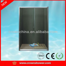 Tempered glass aluminum profile sliding bathroom decorative glass shower screen (SCREEN-A)