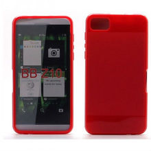 Red color Frosted TPU Case Cover for BlackBerry Z10 P-BBZ10TPU003