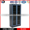 180 degree open door tall steel lockable shoe cabinet with swing glass door